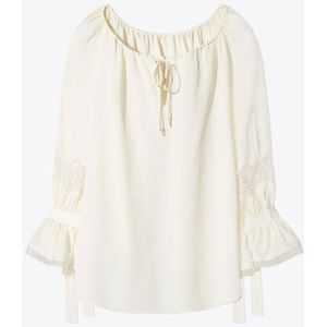 Tory Burch Willow Blouse in Size M